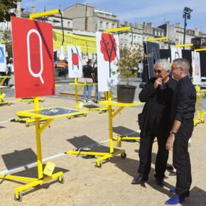 Daniel Buren - Parrain d'Enquête / En Quête #2 / Agora Bordeaux, 12-13 Septembre 2014